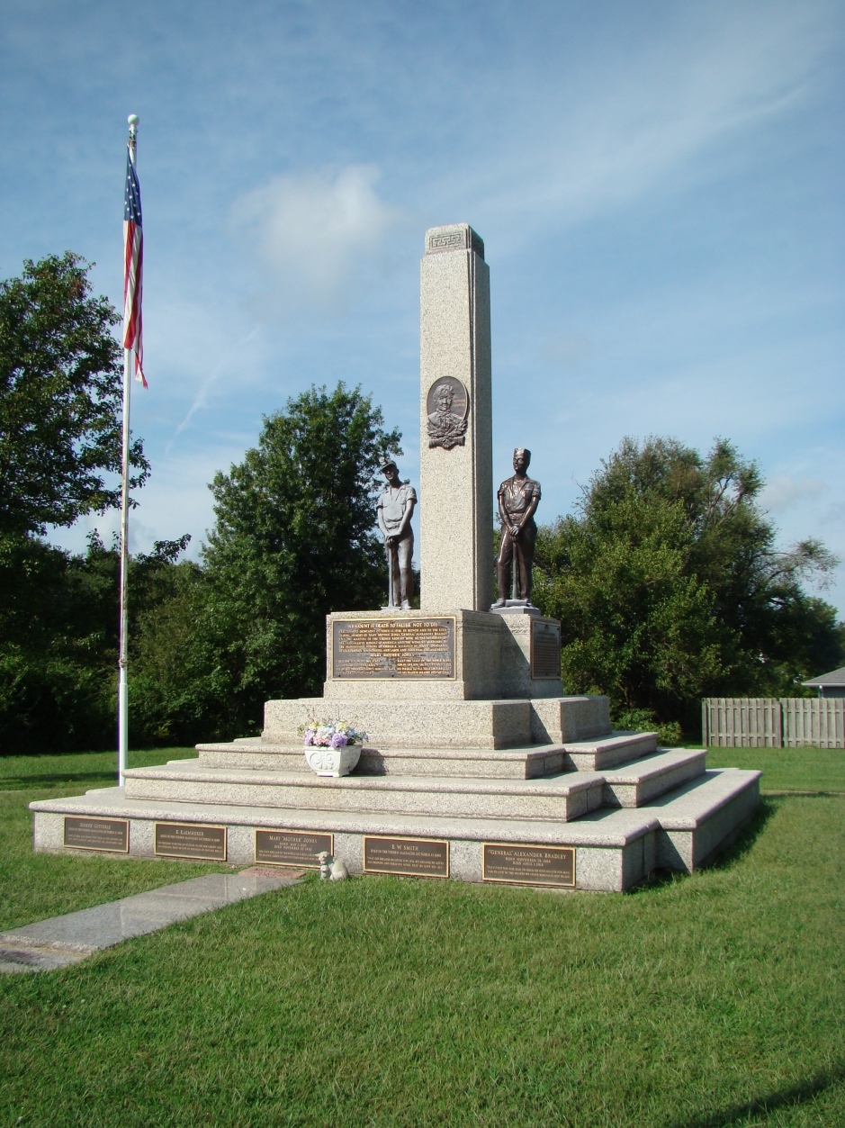 Miners were killed during a parade of striking miners in Galena, KS. This is a monument to their sacrifice. It is also a monument to Mother Jones. Galena is off of Route 66.