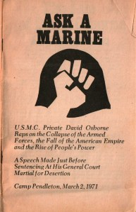 Ozzie's speech to the court at his court-martial at Camp Pendleton