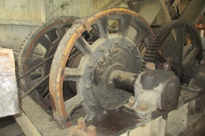Huge gears drove this gargantuan machine