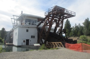 This is the 3rd dredge which shut down in 1954. It went 24-7 with only Christmas and the Fourth shutting down
