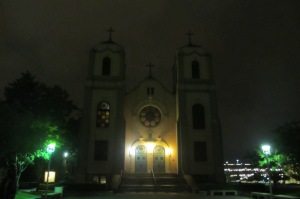 The Catholic Cathedral, many of the immigrants that settled in Auraria were catholic