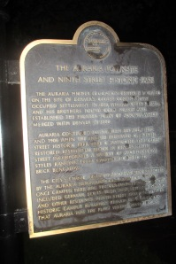 This is another plaque that tells more of the story