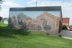 A neat mural on the wall of the firehouse, we saw a lot of murals and it was a great way to learn the history of an area.