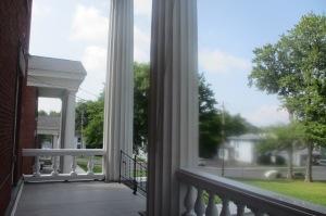 The pillars, representative of Greek architecture
