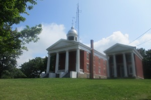 The largest  of the three is Papa Bear, the Seneca County courthouse built in 1845.
